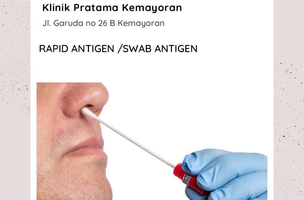 Terima Rapid antigen/ swab antigen